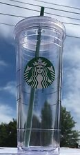 NEW 2016 STARBUCKS COLD CUP CLEAR ACRYLIC MUG TUMBLER 24 fl oz VENTI