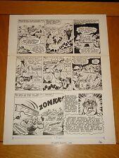 CAPTAIN HURRICANE VALIANT BRITISH ANNUAL 1984 ORIGINAL COMIC ART
