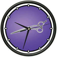 SCISSORS Wall Clock hair salon cutter pole gift