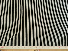 """Thermal Weave White and Black Striped Stretch Fabric Per Yard x 50"""""""