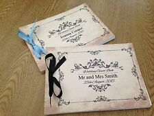 Personalised Guest Book Memory Wedding Birthday Hen Night Babyshower Vintage D9