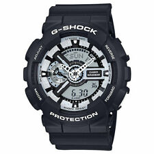 Casio G-Shock Mens Digital Wrist Watch GA110BW-1A GA-110BW-1ACR Black/White New