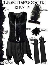 TALL Roaring 20's PLUS SIZE Flapper Dress Halloween Costume XL to 9x X-LONG TALL