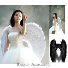 AC1 Black or White Adult Feather Large Wings Angel Halloween Costume Accessory
