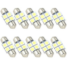 10 x 31mm 4 SMD 5050 LED Car Interior Festoon Dome Light Bulbs Lamp White NEW