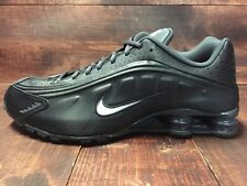 Nike Shox R4 Running Shoes Black White Anthracite SZ 8 ( 104265-039 )
