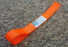 (ORANGE) WINCH HOOK STRAP (made in SA) for 4WD / 4x4, Winch Safety & Recovery
