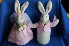 A Cute Pair Of Wedding Bunnies Rabbits Soft Toy
