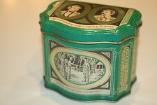 Tin Tea Canister Caddy England Dr Livingstone & Henry Stanley VGC