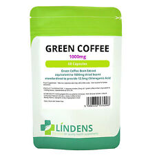 Green Coffee Bean Extract 1000mg, 60 Dieta Pastillas Quemador De Grasa, Natural pérdida de peso
