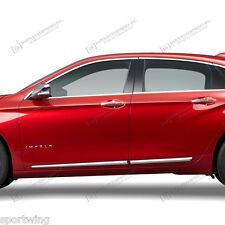BODY SIDE Moldings Mouldings LOWER CHROME Trim For: CHEVY IMPALA 2014-2017