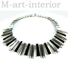 modernist 925 Sterling Silber Collier TAXCO Mexico Onyx Silver Necklace vintage