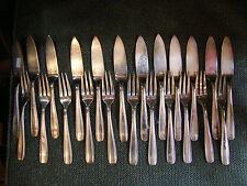 Ménagère à Poisson en Argent Plaqué Ercuis Art Déco 23 Pièces Silver Silber