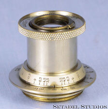 LEICA LEITZ 50MM ELMAR F3.5 11 O'CLOCK EARLY NICKEL SM SCREW MOUNT LENS