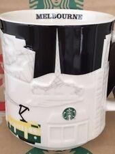 NEW Starbucks MELBOURNE Australia Black/White relief 18 oz mug NEW!