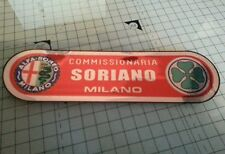 Alfa romeo soriano milano vintage dealer window sticker internal sticking
