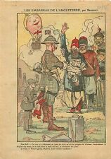 Caricature John Bull Mosul Iraq Mossoul Irak British Dominions 1925 ILLUSTRATION