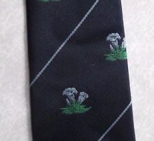 CH MUNDAY VINTAGE RETRO FLOWER CREST TIE CLUB ASSOCIATION FLORAL 1990s