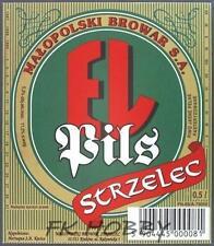 Poland Brewery Jędrzejów Piwo EL Strzelec Beer Label Bieretikett Cerveza je71.2