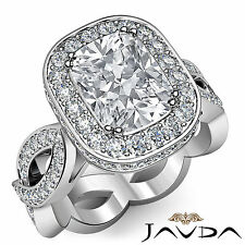Cushion Diamond Engagement Unique Ring EGL Certified E SI1 14k White Gold 2.3 ct