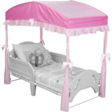 Delta Children Girls Canopy for Toddler Bed, Pink New