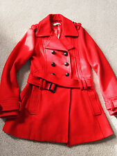 Debenham's Red Herring Girl's Red Wool Coat 14 years Jacket Hardly Worn