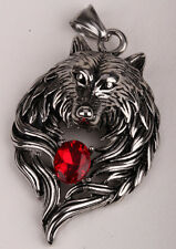 Wolf pendant for men women stainless steel biker jewelry gift GN41