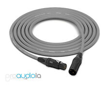 Canare Quad L-4E6S Cable | Neutrik Gold XLR-F XLR-M | Gray 100 Feet | 100 Ft.