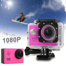 Caméra Video 1080P HD Mini 12MP Sport Étanche Video Action DV Camcorder Rose EH