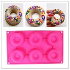 6Cav Doughnut Donut Bundt Ring Cake Chocolate Dessert Silicone Mold Pan Mould
