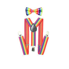 Baby Kids BOY Girl Classic Pre-tied Bow Tie Elastic Y-Back Braces Suspenders Set