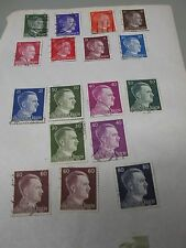 WWII  DEUTSCHES  REIGH MIXED  STAMPS  (17)  MIXED DENOMINATIONS