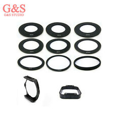 9pcs Adapter Rings + Square hood + Color Colour square Filter Holder