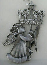 Wallace Silversmiths Pewter Angel Christmas Tree Ornament