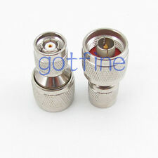 RP-TNC male plug to N male plug straight RF connector adapter