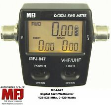 MFJ 847 Digital SWR/Power/Wattmeter VHF/UHF 125-525 MHZ, 120 Watts Mobile/Base