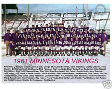 1961 MINNESOTA VIKINGS INAUGURAL FIRST TEAM 8X10 PHOTO PICTURE