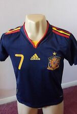 SPAIN NATIONAL TEAM RFCF  AWAY SHIRT DAVID VILLA #7 ADIDAS  CHILD SIZE VERY NICE