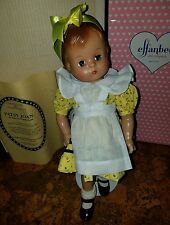 effanbee doll 1994  yellow dress wrong box and paper ?(alice in wonderland ) 16""