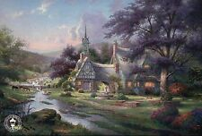 Clocktower Cottage - Meditation, Nature of Time - Thomas Kinkade Dealer Postcard
