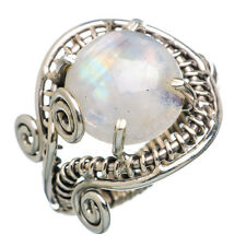 Rainbow Moonstone 925 Sterling Silver Ring Size 7.75 Ana Co Jewelry R783915F