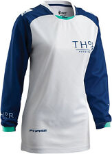 THOR MX Motocross 2016 Womens PHASE Jersey (CLUTCH Navy/White) S (Small)
