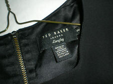 Ted Baker - Lovely Black Loreley leather Panel Skater dress - Size 2 ( UK 10)