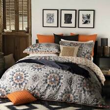 Logan and Mason BALI ORANGE Queen Size Bed Doona Duvet Quilt Cover Set BRAND NEW