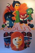 INSIDE OUT Screenprint TOM WHALEN Poster 35 PURPLE VARIANT Disney Mint Sold Out