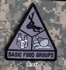 BASIC FOOD GROUPS VELCRO TACTICAL BADGE MORALE MILITARY PATCH SWAT