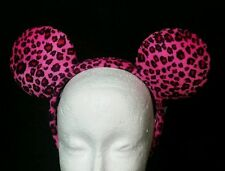 Disney Parks Minnie Mouse Pink Cheetah Ears Headband