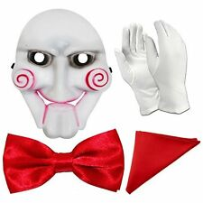 Jigsaw SEGA HALLOWEEN FANCY DRESS Set-MASCHERA, GUANTI, comando modifica e Tasca Square
