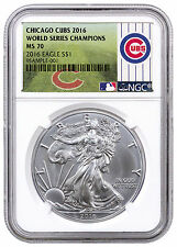 2016 American Silver Eagle NGC MS70 World Series Champions Chicago Cubs SKU44112