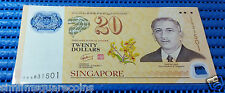 Brunei Singapore 40th Anniversary Currency Agreement $20 Note 0AA831501